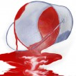 Bucket with the spilt paint — Stock Photo