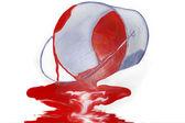 Bucket with the spilt paint — Stock Photo