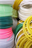 Brightness of watering hoses on sale — Stock Photo