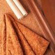 Selection of materials for an apartment interior — Stock Photo