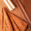 Selection of materials for an apartment interior - Stock Photo