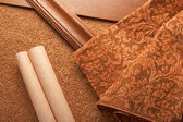 Material för en lägenhet inredning — Stockfoto