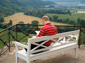 Outdoor Reading — Stockfoto
