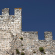 Castle wall and defensive tower — Stock Photo