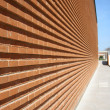 Modern Building with red bricked wall — Foto de stock #1482421