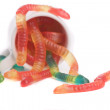 Gummy snakes — Stock Photo