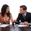 Business Couple working — Stock Photo