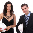 Royalty-Free Stock Photo: Successful couple of young engineers