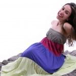 Beautiful lady in long dress — Stock Photo