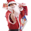 Young Man in Santa costume - Stock Photo