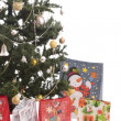 Christmas Tree Full of Gifts — Stock Photo