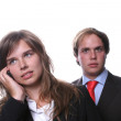 Young Business Couple Isolated — Stock Photo