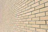 Bricked Wall Background Perspective — Stock Photo