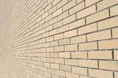 Tuğla duvar arka plan bakış açısı — Stok fotoğraf