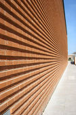 Modern Building with red bricked wall — Stock Photo