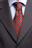 Detail of suit and tie — Stock Photo