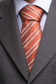 Detail of a suit and a tie — Stock Photo