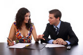 Lavoro coppia d'affari — Foto Stock