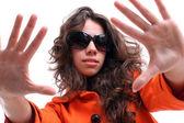 Bella mujer con gafas de sol — Foto de Stock