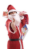 Young Man in Santa costume — Stock Photo