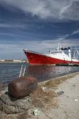 Fishing boat docked — Stock Photo