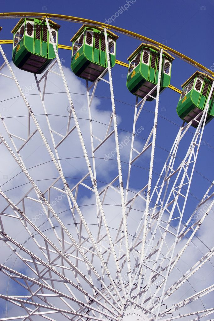 Giant Wheel detail isolated in blue sky background  Stock Photo #1483426