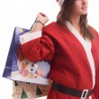 Young Santa Girl - Stock Photo