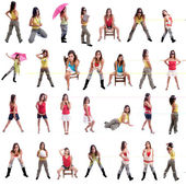 Young girl posing in different positions — Stock Photo