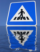 Sign with reflection — Stock Photo