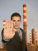 Fermare l'inquinamento — Foto Stock