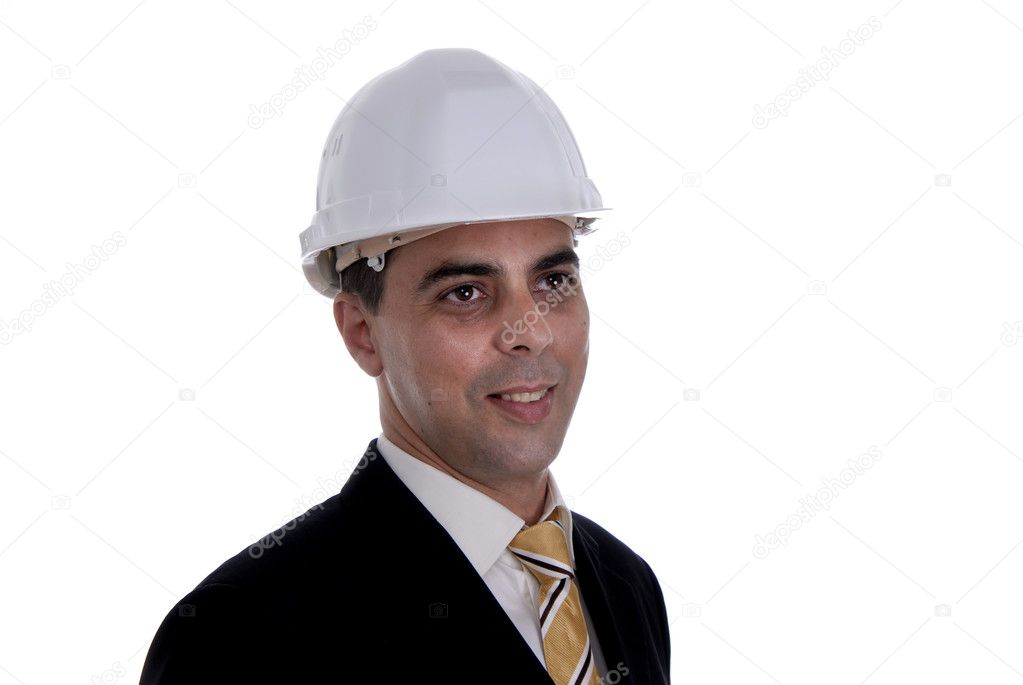 A young architect a over white background  Photo #1495883