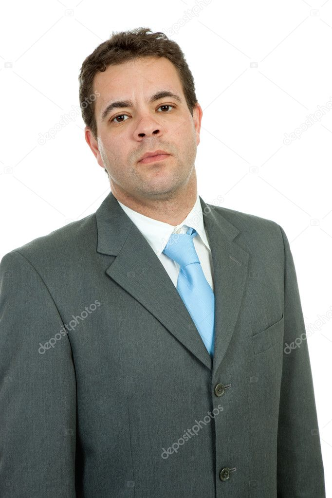 Young business man portrait in white background — Stock Photo #1501190