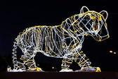 Scultura di una tigre nella città di perm — Foto Stock