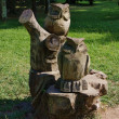 Wooden sculpture of an owl in the Park — Stock Photo #1874205