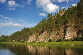 Rock River Chusovaya in the Perm region — Stock Photo