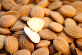 Cracked almond — Stock Photo