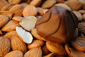 Chocolate and almond — Stock Photo