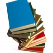 Book stack isolated on the white — Stock Photo #1546424