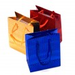 Shiny paper gift bags — Stock Photo