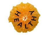 Naranja con texto — Foto de Stock