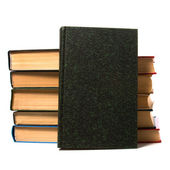 Book stack isolated on the white — Stock Photo