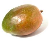 Single mango isolated on white background — Stock Photo