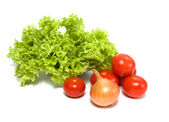 Lettuce salad and vegetables — Stock Photo