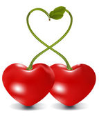 Raster. cherry heart — Stock Photo