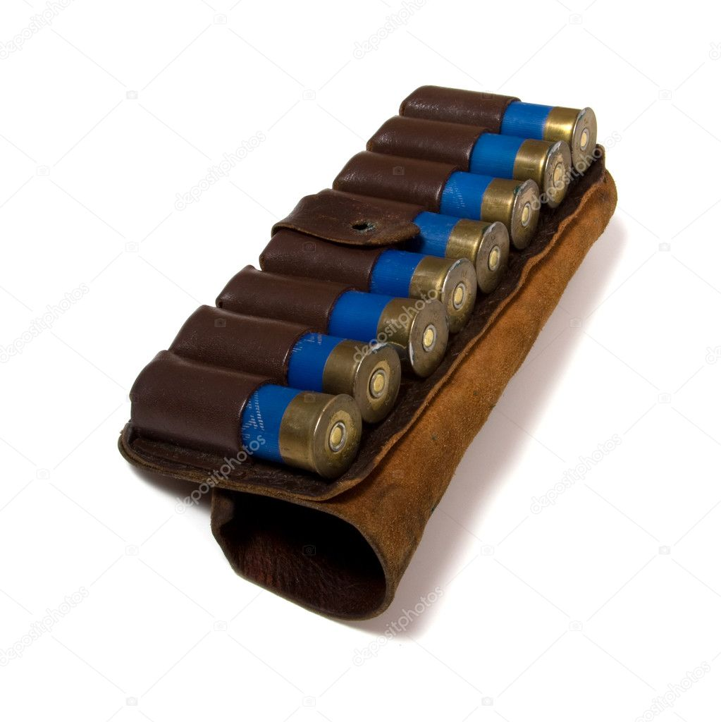 Vintage ammunition belt isolated — Stock Photo #1542451