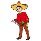 Mexican boy dressed in a traditional sui — Stock Vector