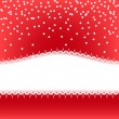 Red Christmas vector background — Stock Vector