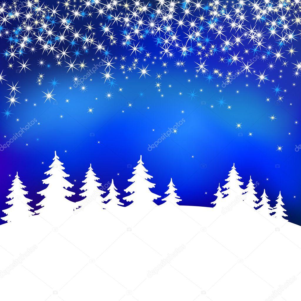 抽象冬季蓝色矢量背景