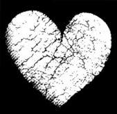 Broken vector heart — Stock Vector