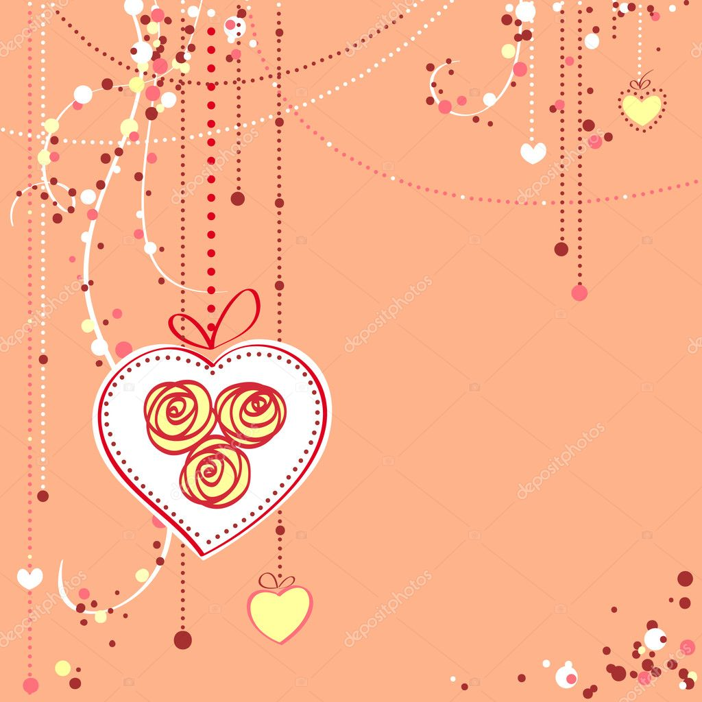Valentine's day card vector illustration  Stock vektor #2014411